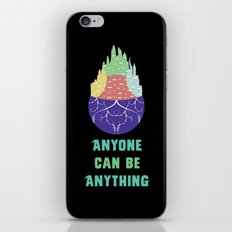 Zootopia - Anyone Can Be Anything [BLACK] iPhone & iPod Skin