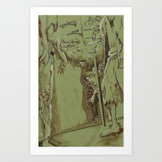 Zombies in the Hall Art Print