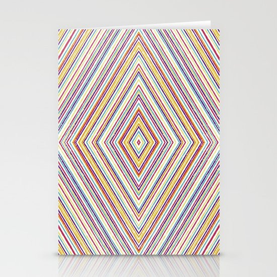 CRAYON STRIPES Stationery Card