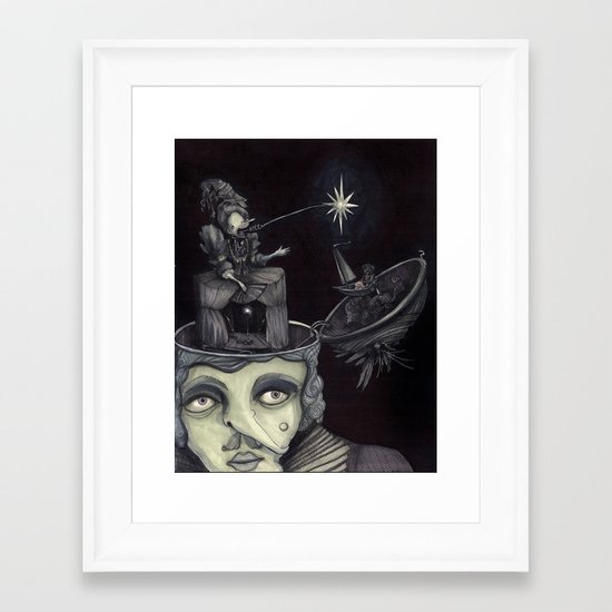 Ghost Light Framed Art Print