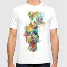 Dream Theory Mens Fitted Tee White SMALL