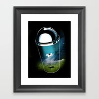 Encounters Of The Dairy … Framed Art Print