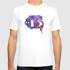 B beta SMALL White Mens Fitted Tee
