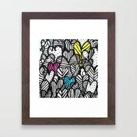 Graffiti Hearts Framed Art Print