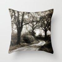 Village Road Throw Pillow