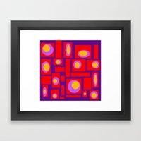 Mod Pattern Percy Framed Art Print