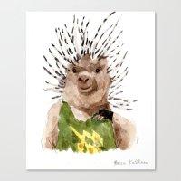 Canvas Print featuring Porcupine Dude by Becca Kallem