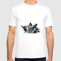 Star Whale Mens Fitted Tee White SMALL