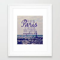 A Bad Day In Paris Is St… Framed Art Print