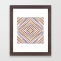 CRAYON STRIPES Framed Art Print