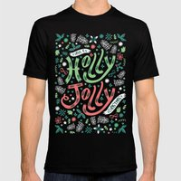 Have A Holly Jolly Chris… Mens Fitted Tee Black SMALL