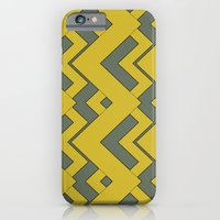 zig zag mustard iPhone 6 Slim Case