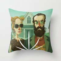 American Gothic High Throw Pillow