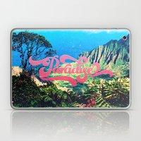 Pink Teal Retro Paradise Vintage Style Photography Laptop & iPad Skin