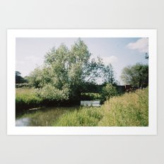 Bridge over River Bure, Ingorth, Norfolk Art Print