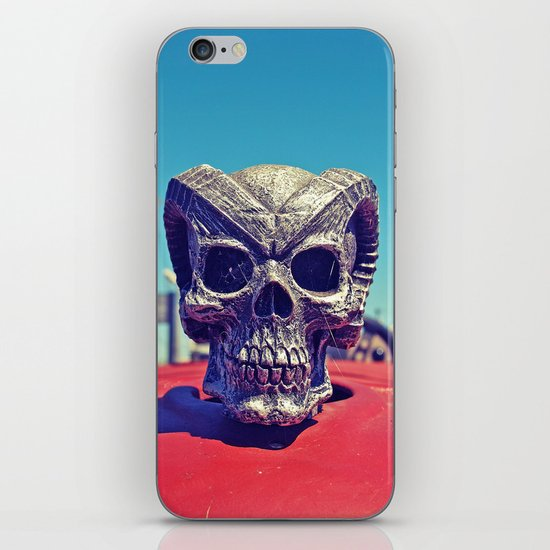 Evil hood ornament iPhone & iPod Skin