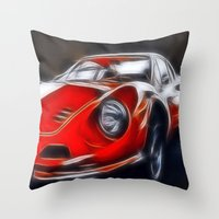 the legendary DINO GT Throw Pillow