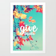 THANKS  Art Print