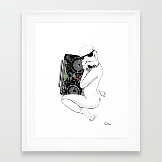 Boombox trooper Framed Art Print