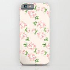 Pink Vintage Roses Pattern iPhone 6 Slim Case