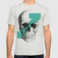 skull7 Mens Fitted Tee Silver SMALL