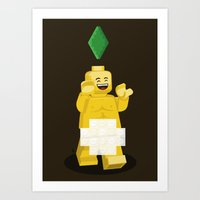 I Want To Brick Free ! Art Print