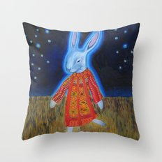 Joseph Bunny and his Dream Coat Throw Pillow