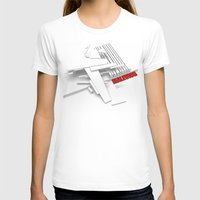 Malevich 3D [B&W] Womens Fitted Tee White SMALL