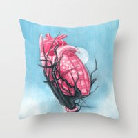 Heart's Apart Throw Pillow
