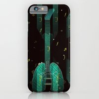 iPhone & iPod Case featuring breathing music tonight by Miguel Á. Núñez I.