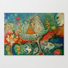 WATER FLOWER Canvas Print