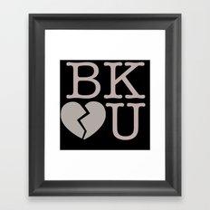 Heartbreak Brooklyn Framed Art Print