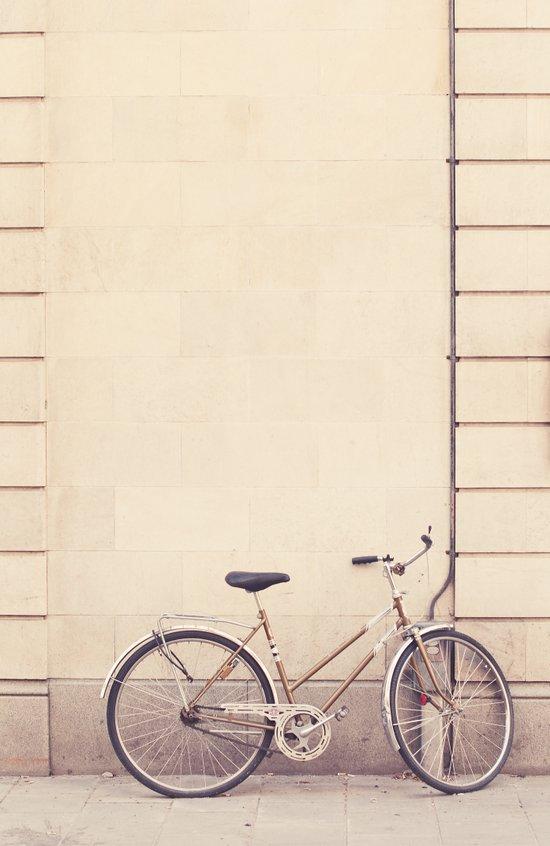 Beige bike Art Print