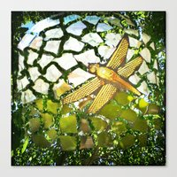 Fly High Dragonfly. Canvas Print