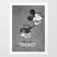 Headless Mouse Art Print