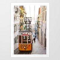 Lisbon Summer Day And Vi… Art Print