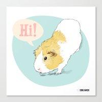 Hi! Canvas Print