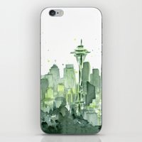 Seattle Watercolor Paint… iPhone & iPod Skin