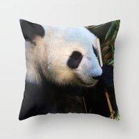 Panda Nap Throw Pillow