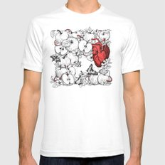 coronary apples Mens Fitted Tee White SMALL