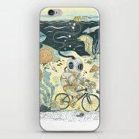 Cycling in the Deep iPhone & iPod Skin