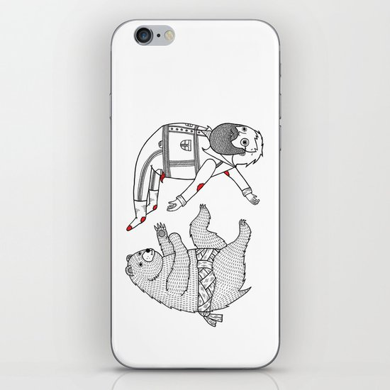 On the bear's uncontrollable urge to toss his master in the air iPhone & iPod Skin