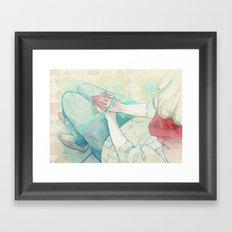 Sin Valentín Framed Art Print