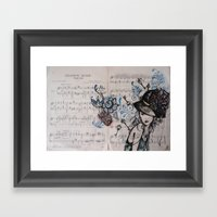 Chanson Russe Framed Art Print