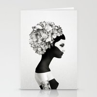 i love you Stationery Cards featuring Marianna by Ruben Ireland