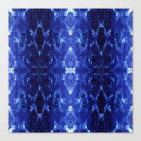 Ikat Shibori Blues Canvas Print