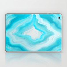 AGATE INTERPRETED: COOL BLUE BREEZE OIL PAINTING Laptop & iPad Skin