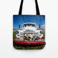 Old Fire Engine Tote Bag