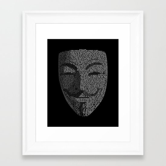 ...You May Call Me 'V' – So who's Anonymous? Framed Art Print