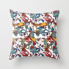Warpaint Throw Pillow